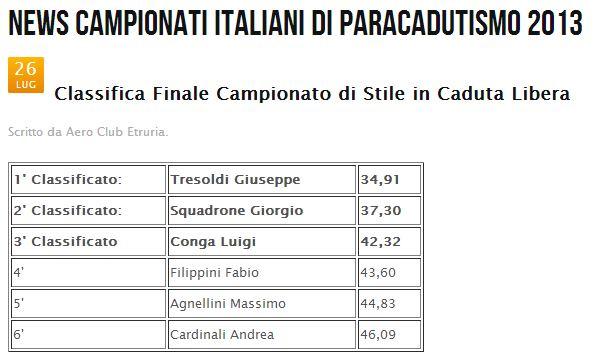Campionati Italiani paracadutismo 2013 Stile